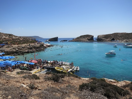 Blue Lagoon from Comino